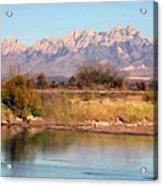 River View Mesilla Panorama Acrylic Print