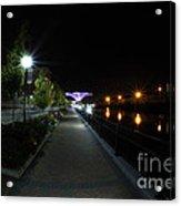 River Walk On The Fox Acrylic Print