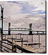 River Walk Wilmington Bridge Acrylic Print