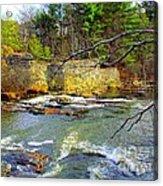 River Wall Acrylic Print