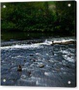 River Wye Waterfall - In Peak District - England Acrylic Print