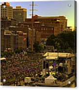 Riverfront Concert Acrylic Print by Diana Powell