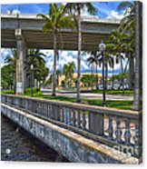 Riverfront Downtown Fort Myers Acrylic Print