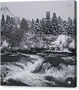 Riverfront Park Winter Storm - Spokane Washington Acrylic Print