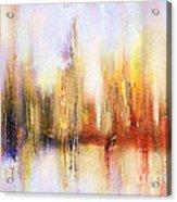 Riverfront Refraction Fine Art Painting Acrylic Print