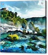 Riverscape Acrylic Print by Ayse Deniz