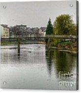 The River Kent At Kirkland In Kendal Acrylic Print