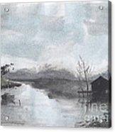 Riverside Scene Acrylic Print