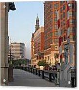 Riverwalk Bridge Crossing Acrylic Print