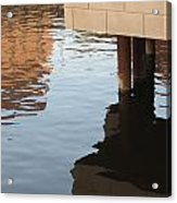 Riverwalk Low View Refections Acrylic Print