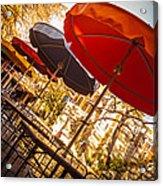 Riverwalk Umbrellas Acrylic Print