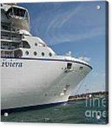 Riviera Ocean Liner Acrylic Print