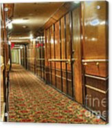 Rms Queen Mary Passenger Hallway Passageway  Acrylic Print