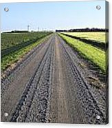 Road Across North Dakota Prairie Acrylic Print