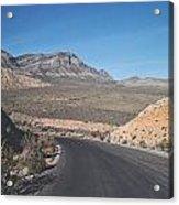 Road In Desert Acrylic Print