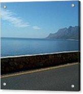 Road Mountain Sea And Sky Acrylic Print
