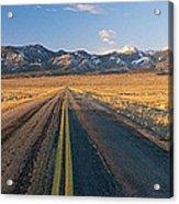 Road Through Desert Acrylic Print