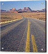 Road Through Monument Valley, Utah Acrylic Print