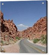 Road Throught The Valley Of Fire Acrylic Print
