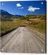 Road To A Beautiful Valley Ranch Acrylic Print