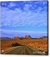 Road To Monument Valley Acrylic Print