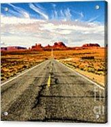Road To Navajo Acrylic Print