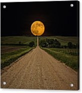Road To Nowhere - Supermoon Acrylic Print