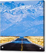 Road To The Mountains Acrylic Print