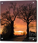 Road To The Night Acrylic Print