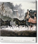 Road Travel/stagecoach Acrylic Print