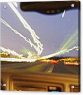 Road Viewed From A Car, Atlanta, Georgia Acrylic Print