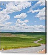 Road Winding Through The Palouse Wheatfields Acrylic Print