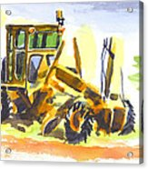 Roadmaster Tractor In Watercolor Acrylic Print by Kip DeVore