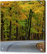 Roadway In Autumn In Brown County State Acrylic Print