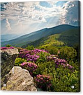 Roan Mountain From Appalachian Trail Near Jane's Bald Acrylic Print