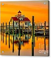 Roanoke Lighthouse Dawn Acrylic Print