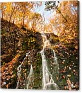 Waterfall - Roaring Brook Autumnlands Acrylic Print