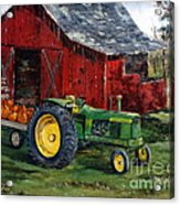 Rob Smith's Tractor Acrylic Print by Lee Piper