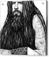Rob Zombie Art Drawing Sketch Portrait Acrylic Print