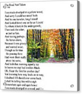 Robert Frost - The Road Not Taken Acrylic Print