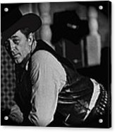 Robert Mitchum Leaning On Poker Table Young Billy Young Set Old Tucson Arizona 1969-2008 Acrylic Print