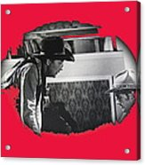 Robert Mitchum Robert Walker Confrontation Young Billy Young Set Old Tucson Arizona 1968 Acrylic Print