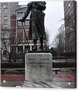 Robert Morris Financier Of The American Revolution Acrylic Print by Bill Cannon