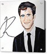 Robert Pattinson 64a Acrylic Print by Audrey Pollitt