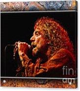 Robert Plant Art Acrylic Print by Marvin Blaine