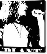 Robert Plant Black And White Pop Art Acrylic Print