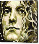 Robert Plant. Golden God Acrylic Print