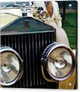 Robert Redford By A Rolls-royce Acrylic Print