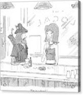 Robin Hood Attempts To Pick Up A Woman At A Bar Acrylic Print