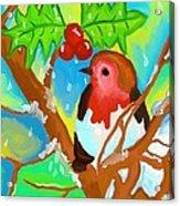 Robin On A Branch Acrylic Print